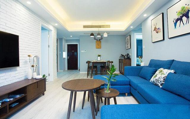 如果没看到他们家的新房,我还不知道北欧风能用这么蓝的色调