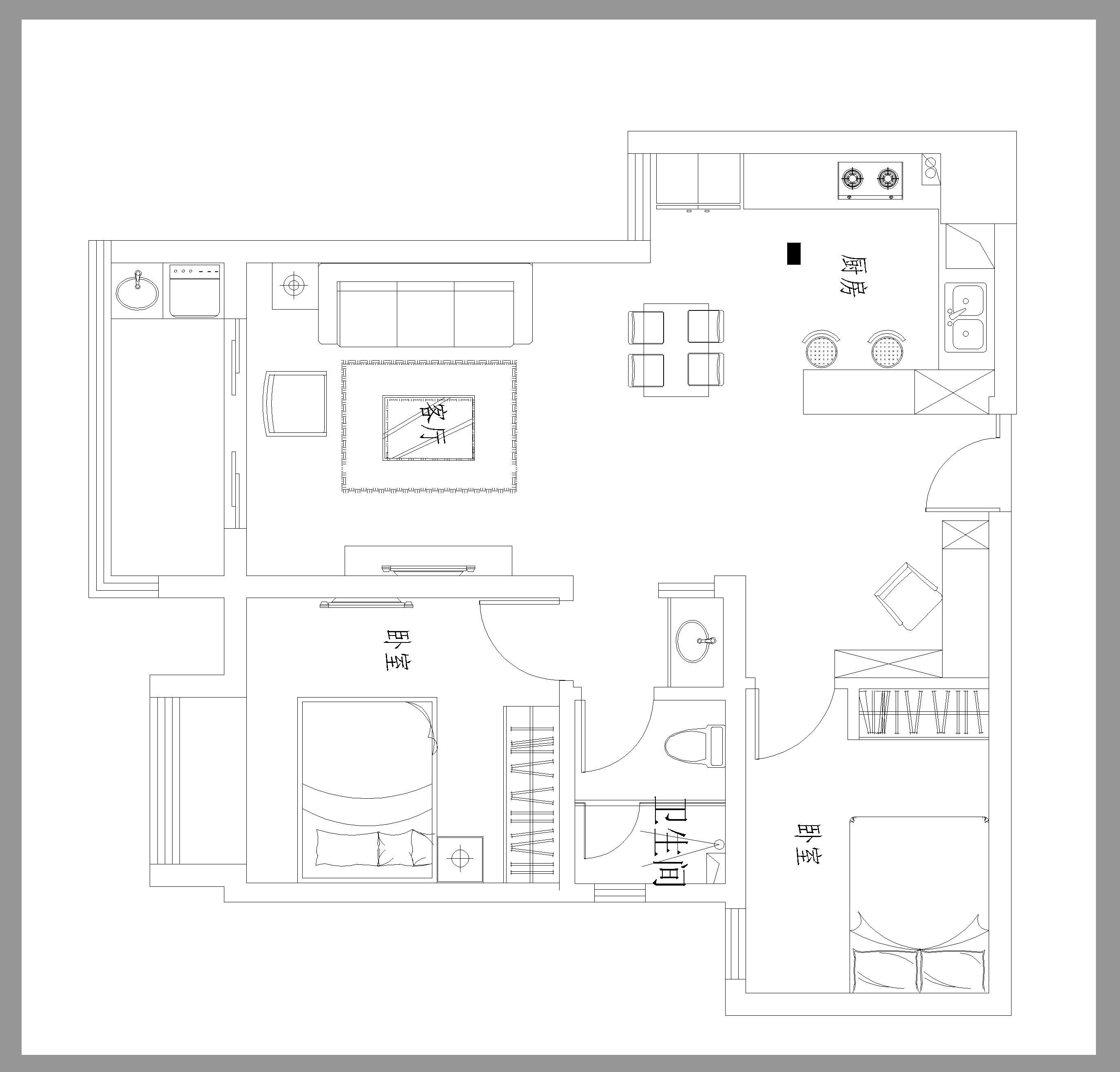 86㎡复古混搭新房完工,沙发背景墙贴文化砖,800块装出高级感!