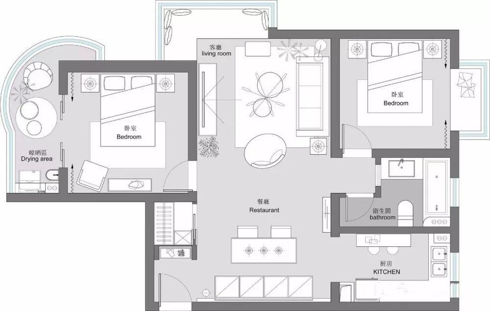 108㎡森系庄园式装修,低调沉稳配色,打造民宿范儿休闲家居!